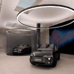 tesla autószalon mb-light világítással